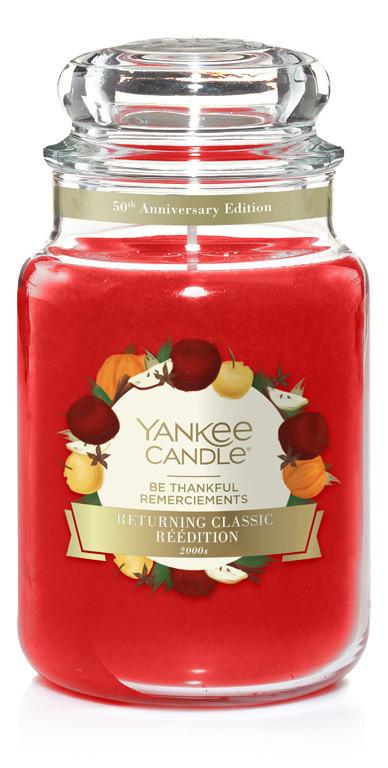 Aromatická svíčka, Yankee Candle Be Thankful, hoření až 150 hod-4857