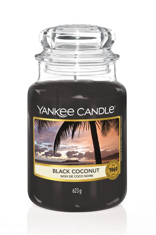 Aromatická svíčka, Yankee Candle Black Coconut, hoření až 150 hod