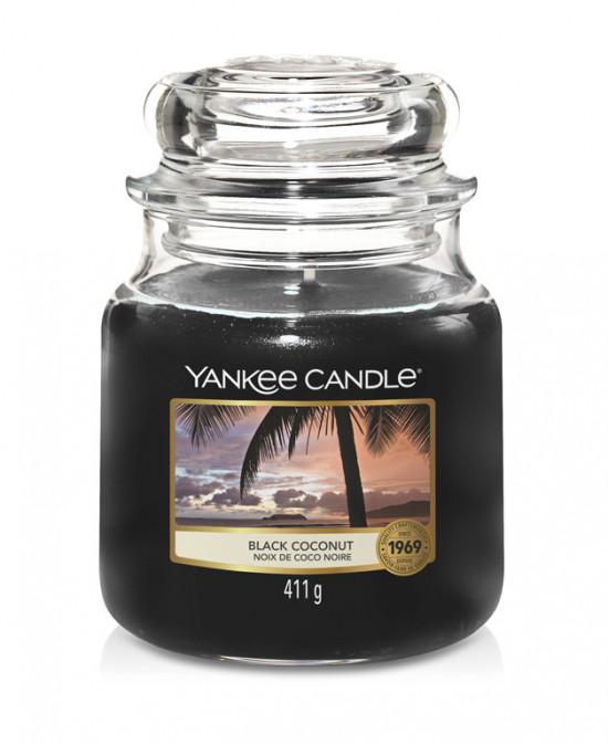 Aromatická svíčka, Yankee Candle Black Coconut, hoření až 75 hod-4784