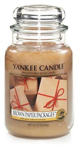 Aromatická svíčka, Yankee Candle Brown Paper Packets, hoření až 150 hod