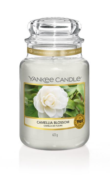 Aromatická svíčka, Yankee Candle Camellia Blossom, hoření až 150 hod-273