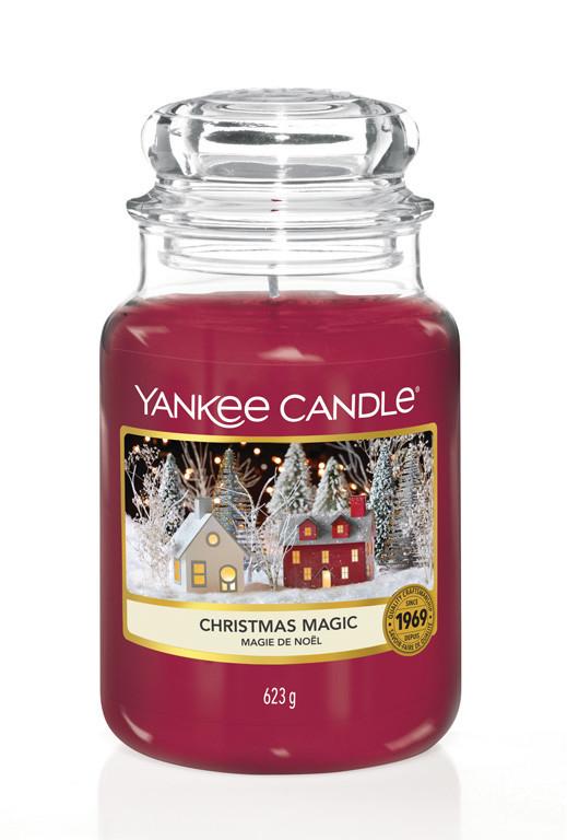 Aromatická svíčka, Yankee Candle Christmas Magic, hoření až 150 hod-4818