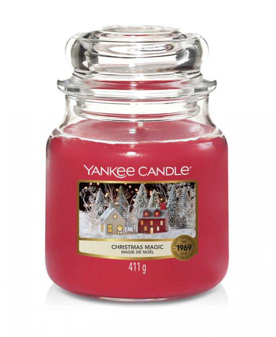 Aromatická svíčka, Yankee Candle Christmas Magic, hoření až 75 hod-4820