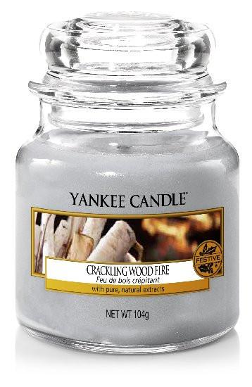 Aromatická svíčka, Yankee Candle Crackling Wood Fire, hoření až 30 hod-734