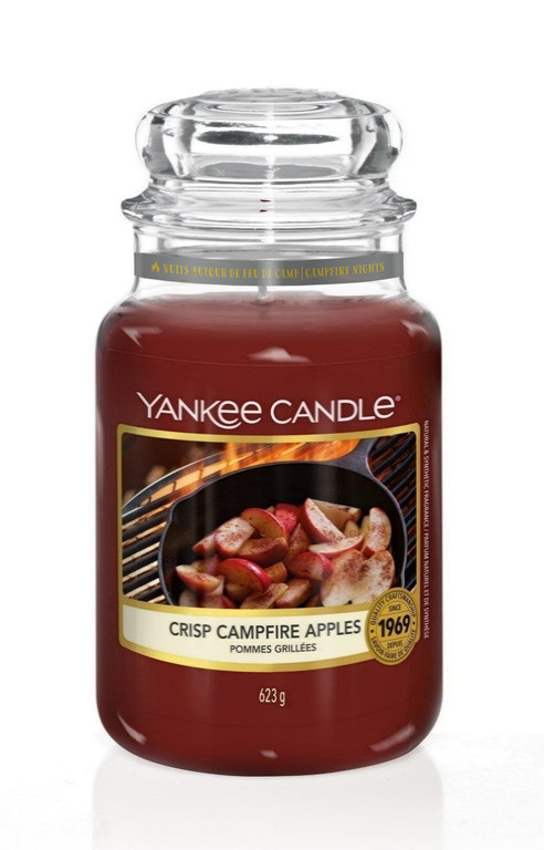 Aromatická svíčka, Yankee Candle Crisp Campfire Apples, hoření až 150 hod-4915