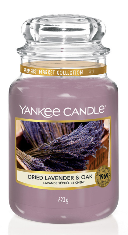Aromatická svíčka, Yankee Candle Dried Lavender & Oak, hoření až 150 hod-975