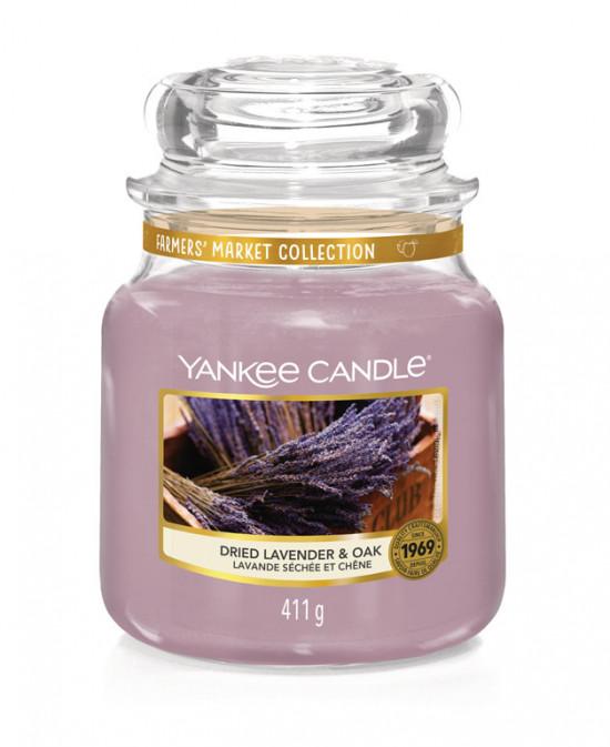 Aromatická svíčka, Yankee Candle Dried Lavender & Oak, hoření až 75 hod-1163