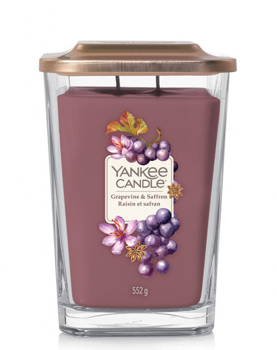 Aromatická svíčka, Yankee Candle Elevation Grapevine & Saffron, hoření až 80 hod-4945