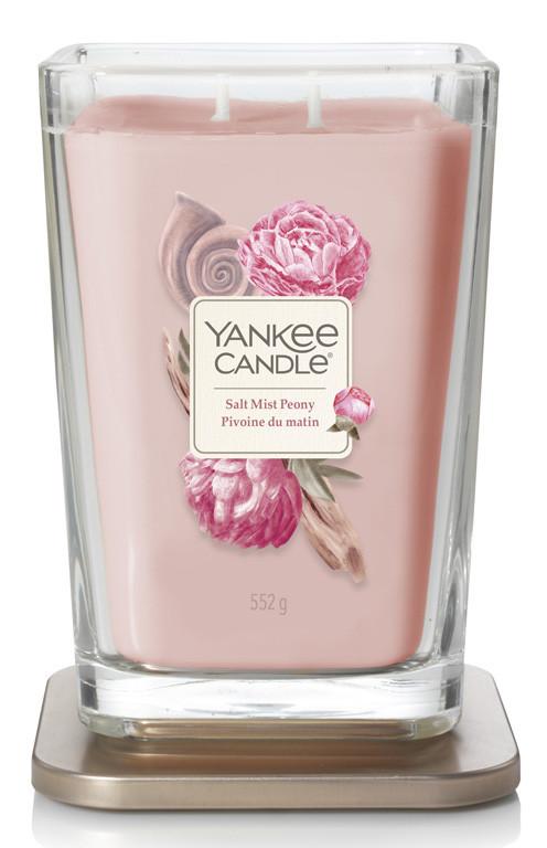 Aromatická svíčka, Yankee Candle Elevation Salt Mist Peony, hoření až 80 hod