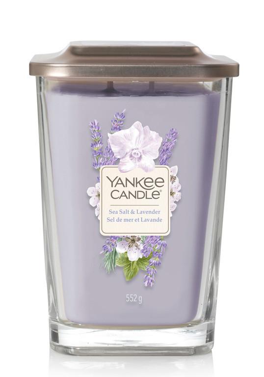 Aromatická svíčka, Yankee Candle Elevation Sea Salt & Lavender, hoření až 80 hod-4895