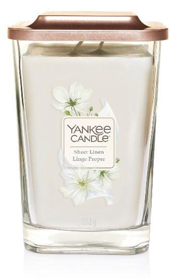 Aromatická svíčka, Yankee Candle Elevation Sheer Linen, hoření až 80 hod-458