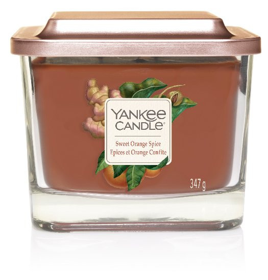 Aromatická svíčka, Yankee Candle Elevation Sweet Orange Spice, hoření až 38 hod