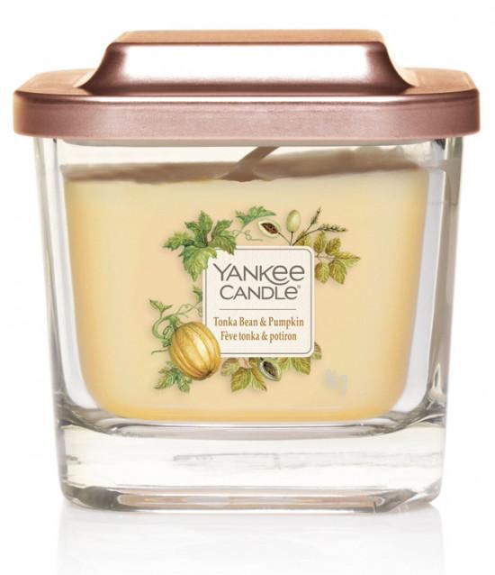 Aromatická svíčka, Yankee Candle Elevation Tonka Bean & Pumpkin, hoření až 28 hod