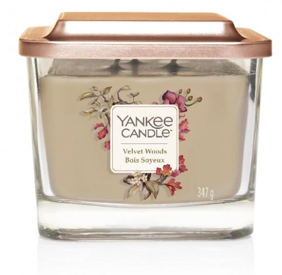 Aromatická svíčka, Yankee Candle Elevation Velvet Woods, hoření až 38 hod