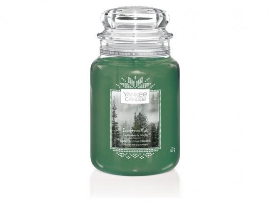 Aromatická svíčka, Yankee Candle Evergreen Mist, hoření až 150 hod