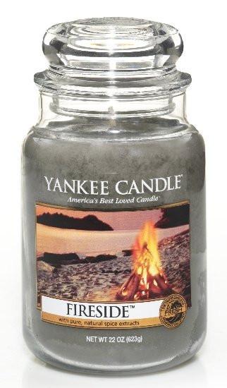 Aromatická svíčka, Yankee Candle Fireside, hoření až 150 hod