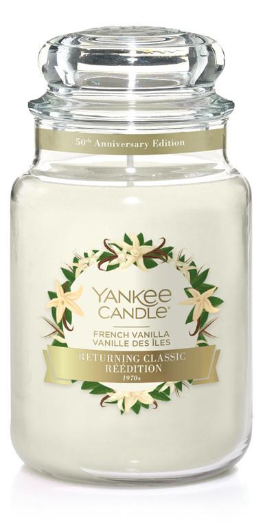 Aromatická svíčka, Yankee Candle French Vanilla, hoření až 150 hod