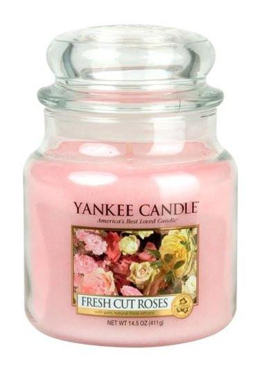 Aromatická svíčka, Yankee Candle Fresh Cut Roses, hoření až 75 hod