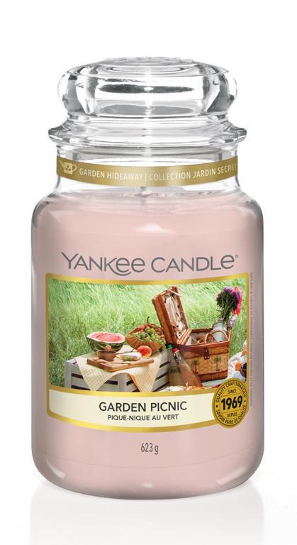 Aromatická svíčka, Yankee Candle Garden Picnic, hoření až 150 hod-4879