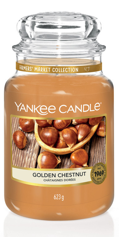 Aromatická svíčka, Yankee Candle Golden Chesnut, hoření až 150 hod-695