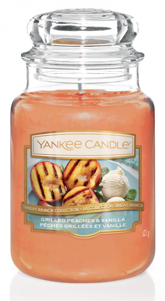 Aromatická svíčka, Yankee Candle Grilled Peaches & Vanilla, hoření až 150 hod-4846