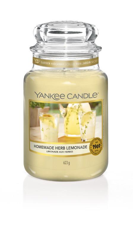 Aromatická svíčka, Yankee Candle Homemade Herb Lemonade, hoření až 150 hod-1144
