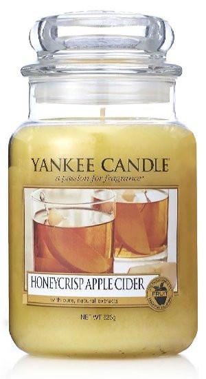 Aromatická svíčka, Yankee Candle Honeycrisp Apple Cider, hoření až 150 hod