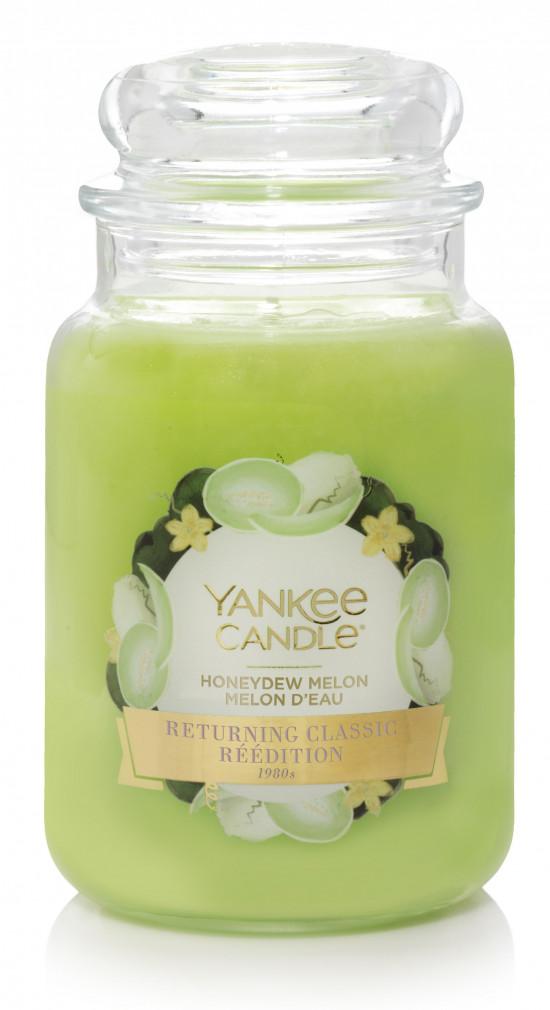 Aromatická svíčka, Yankee Candle Honeydew Melon, hoření až 150 hod-4851