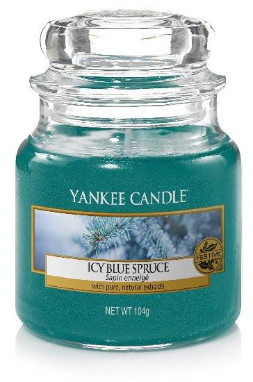 Aromatická svíčka, Yankee Candle Icy Blue Spruce, hoření až 30 hod