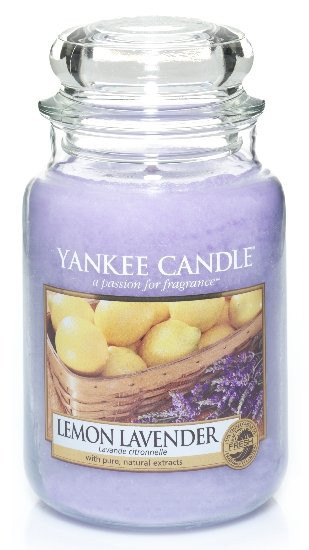 Aromatická svíčka, Yankee Candle Lemon Lavender, hoření až 150 hod-976