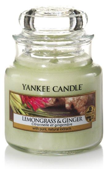 Aromatická svíčka, Yankee Candle Lemongrass & Ginger, hoření až 30 hod-4803