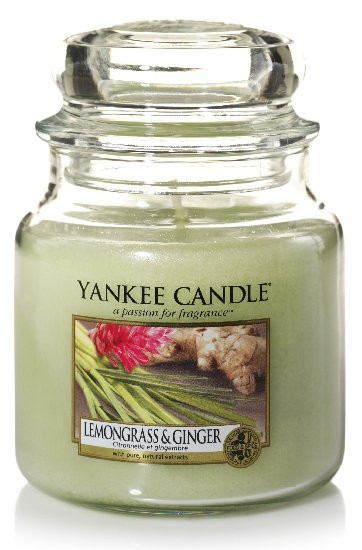 Aromatická svíčka, Yankee Candle Lemongrass & Ginger, hoření až 75 hod
