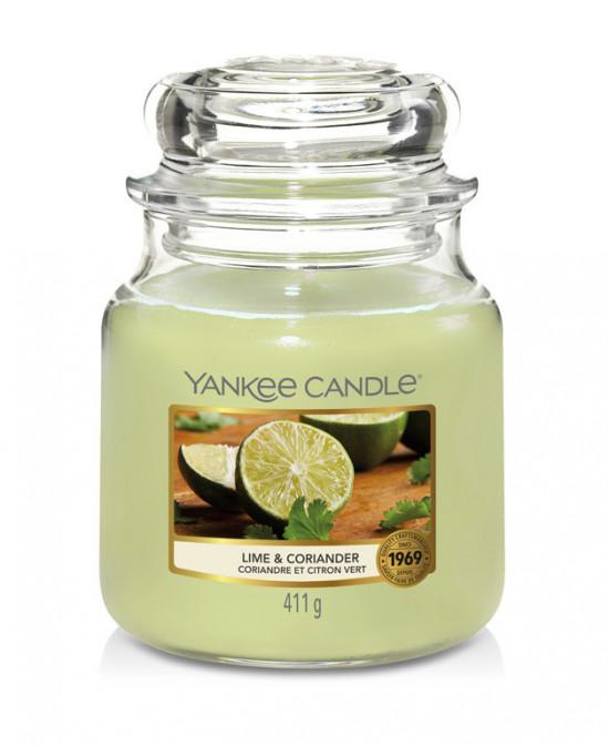 Aromatická svíčka, Yankee Candle Lime & Coriander, hoření až 75 hod-4886