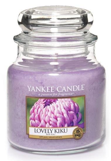 Aromatická svíčka, Yankee Candle Lovely Kiku, hoření až 75 hod
