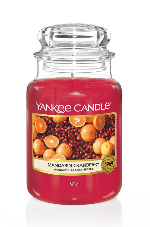 Aromatická svíčka, Yankee Candle Mandarin Cranberry, hoření až 150 hod