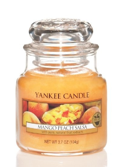 Aromatická svíčka, Yankee Candle Mango Peach Salsa, hoření až 30 hod