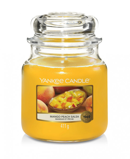Aromatická svíčka, Yankee Candle Mango Peach Salsa, hoření až 75 hod-4774