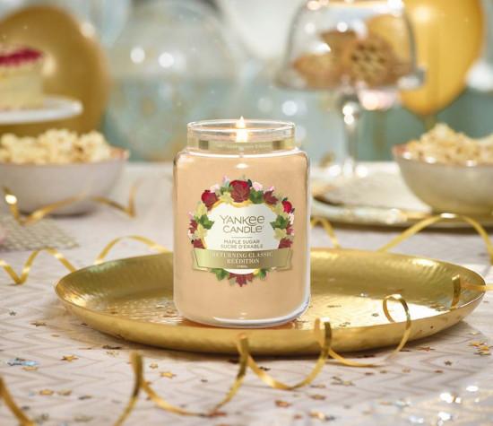 Aromatická svíčka, Yankee Candle Maple Sugar, hoření až 150 hod-4856