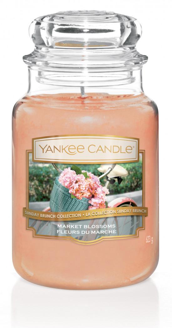 Aromatická svíčka, Yankee Candle Market Blossoms, hoření až 150 hod