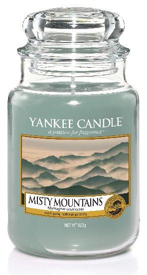 Aromatická svíčka, Yankee Candle Misty Mountains, hoření až 150 hod