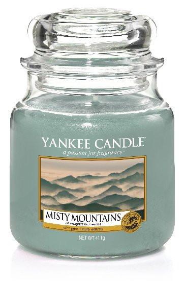 Aromatická svíčka, Yankee Candle Misty Mountains, hoření až 75 hod