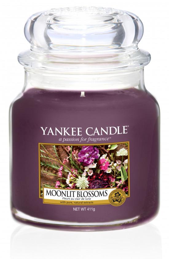 Aromatická svíčka, Yankee Candle Moonlight Blossoms, hoření až 75 hod
