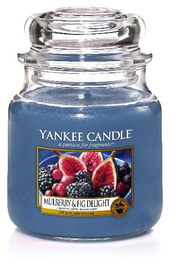 Aromatická svíčka, Yankee Candle Mulberry & Fig Delight, hoření až 75 hod