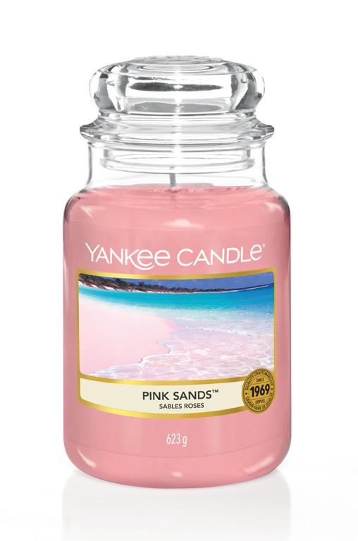 Aromatická svíčka, Yankee Candle Pink Sands, hoření až 150 hod-4776