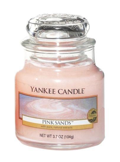 Aromatická svíčka, Yankee Candle Pink Sands, hoření až 30 hod