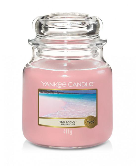 Aromatická svíčka, Yankee Candle Pink Sands, hoření až 75 hod-4777