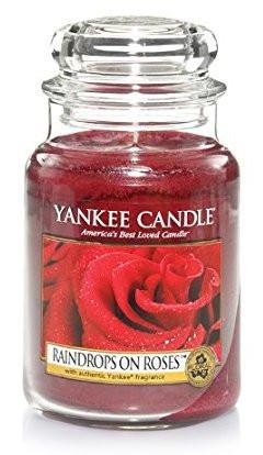 Aromatická svíčka, Yankee Candle Raindrops on Roses, hoření až 150 hod