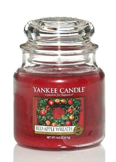 Aromatická svíčka, Yankee Candle Red Apple Wreath, hoření až 75 hod