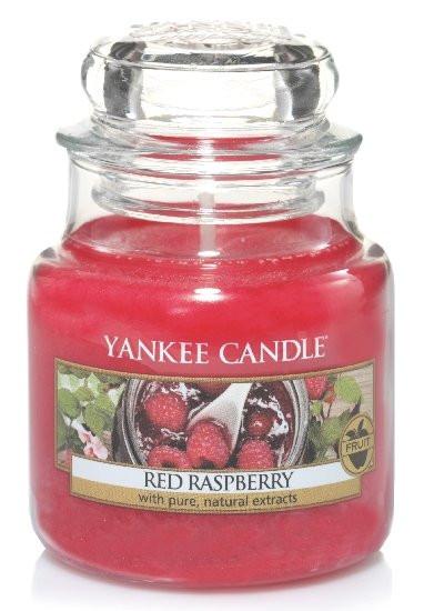 Aromatická svíčka, Yankee Candle Red Raspberry, hoření až 30 hod