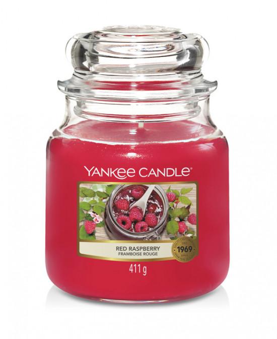 Aromatická svíčka, Yankee Candle Red Raspberry, hoření až 75 hod